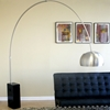 Arco Cube-Shaped Marble Base Floor Lamp - WI-375A-X
