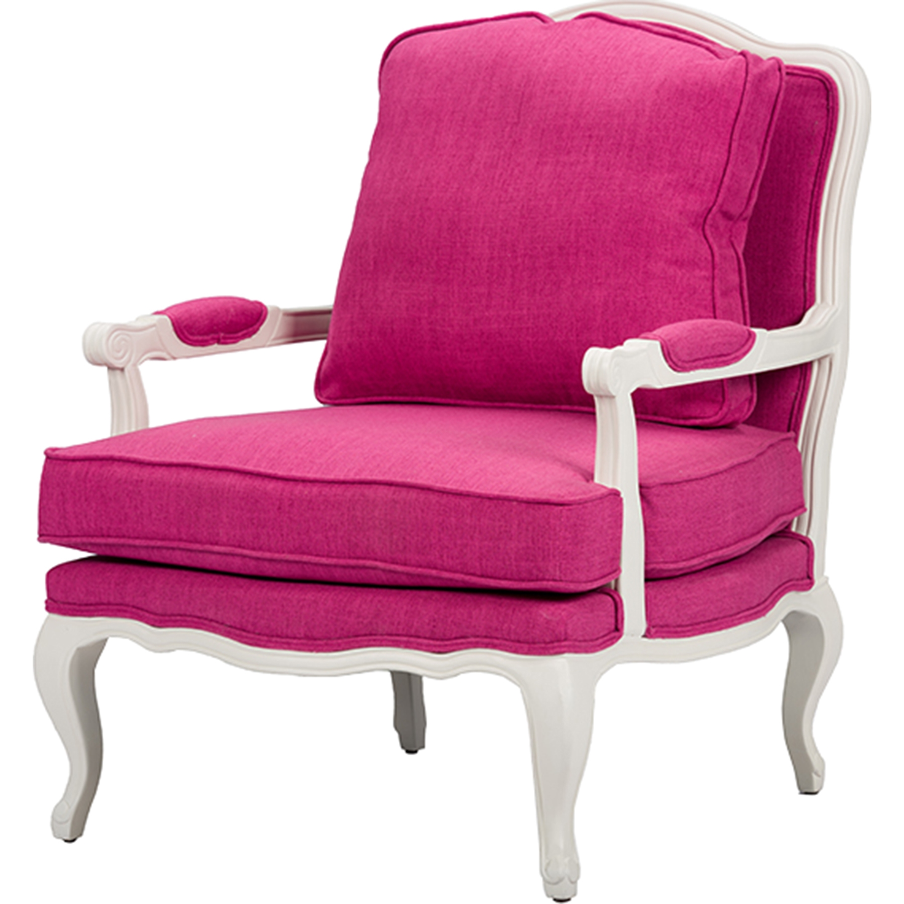 Antoinette Classic Antiqued French Accent Chair   Pink   WI 52348 PINK ...