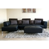 Everett Leather Sectional with Chaise and Ottoman - WI-587-M9812