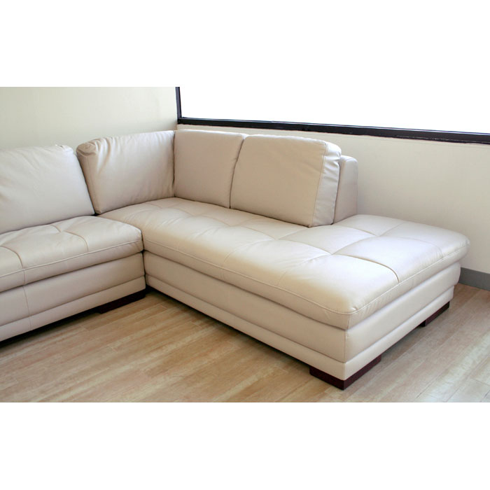 Leather Sofa Beige: Diana Beige Leather Sofa With Chaise