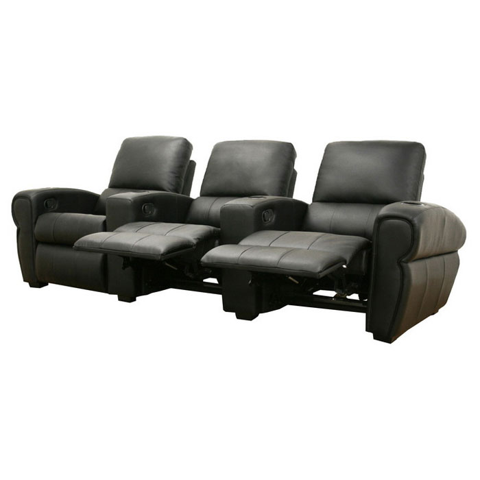 Moondance 3 Seat Home Theater Seating In Black Dcg Stores