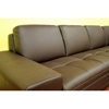 Callidora Dark Brown Leather Sectional with Chaise - WI-766-X