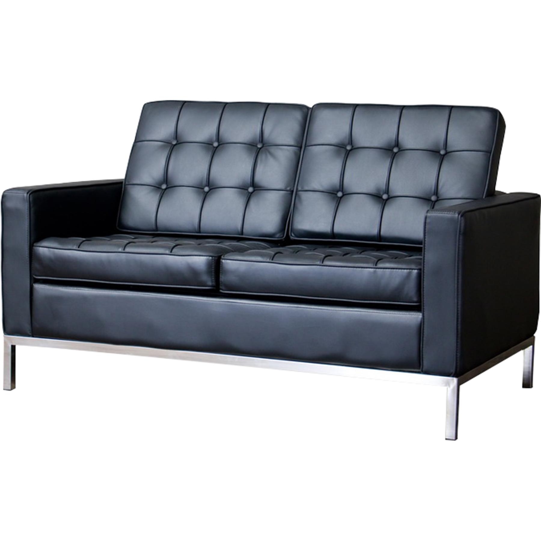 ... Connoisseur 3 Piece Living Room Sofa Set   Black   WI 810 BLACK ...