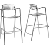 Ethan Aluminum Bar Stool - Non Swivel (Set of 2) - WI-8119-BS
