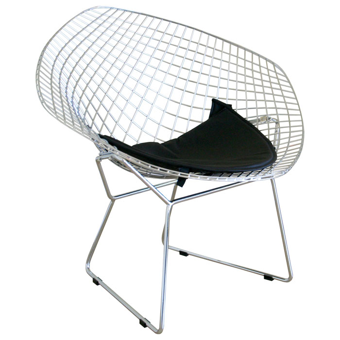 bertoia style diamond wire chair dcg stores. Black Bedroom Furniture Sets. Home Design Ideas