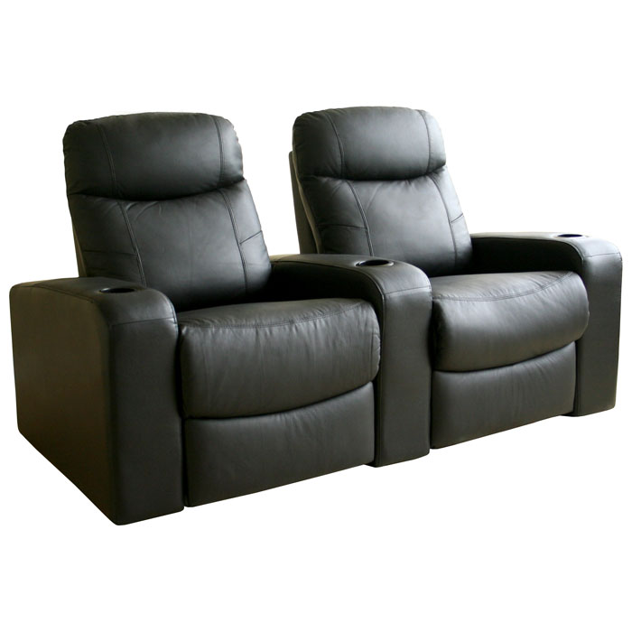Cannes 2 Seat Leather Home Theater Seating Dcg Stores