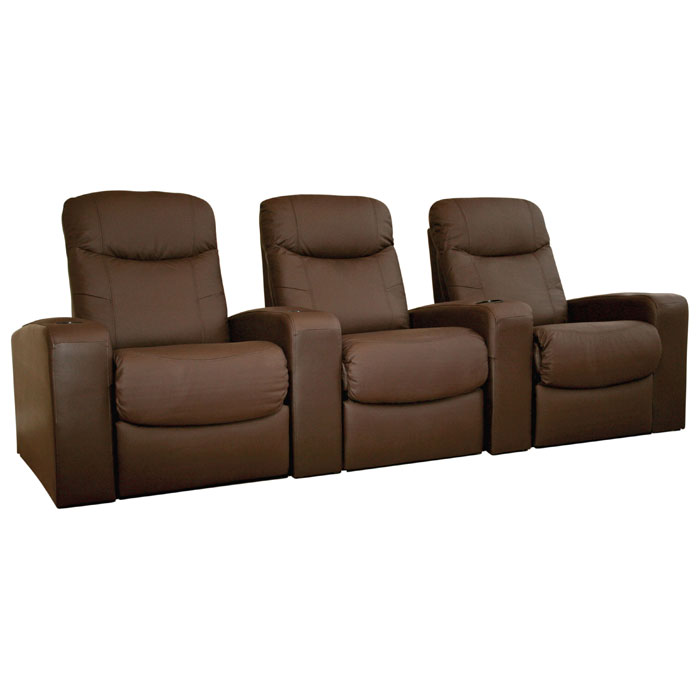 Cannes 3 Seat Leather Home Theater Seating Dcg Stores