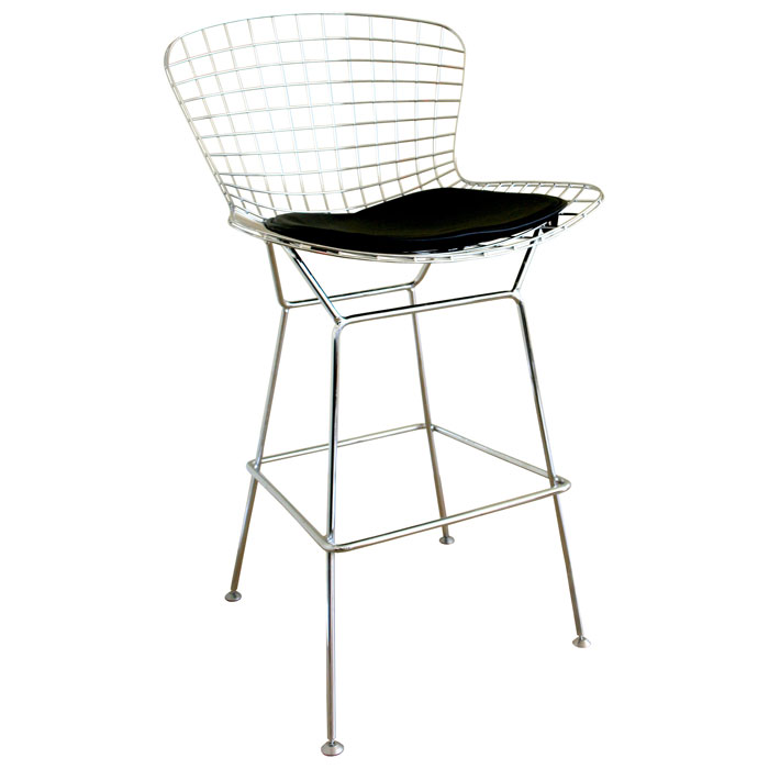 Bertoia Style Wire Barstool in Chrome - WI-8340