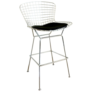 Bertoia Style Wire Barstool in Chrome
