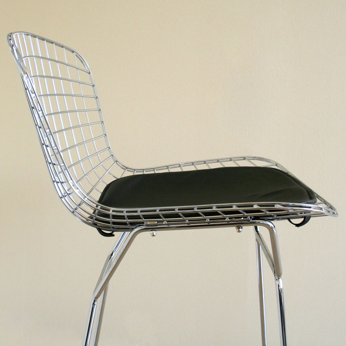 Bertoia Style Wire Barstool In Chrome Dcg Stores