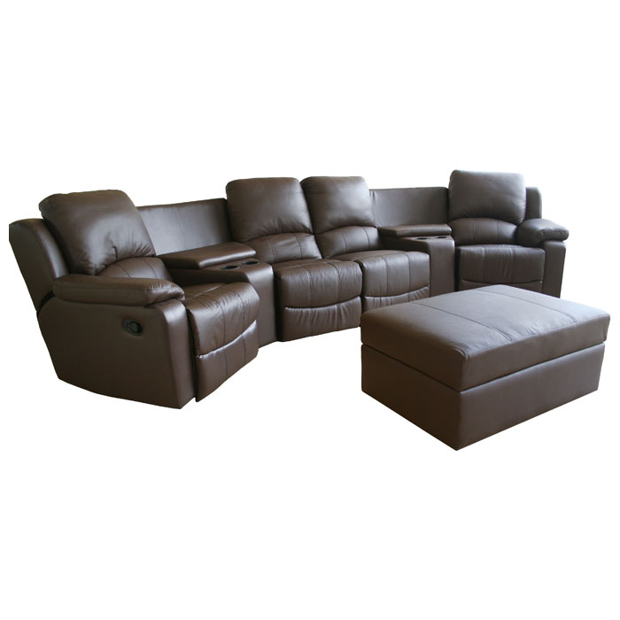 Paramount Curved Row Leather Home Theater Seating