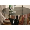 Genesis Steel and Tinted Glass Modern End Table - WI-931B2-GR