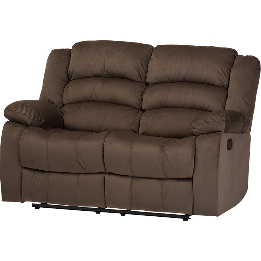 Hollace Microsuede Loveseat Recliner Taupe Dcg Stores