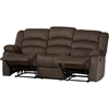 Hollace Microsuede Sofa Recliner - Taupe - WI-98240-BROWN-SF