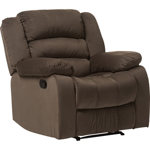 Hollace Microsuede Chair Recliner - Taupe