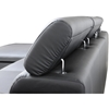Franklin Chaise Sectional Sofa - Black, Adjustable Headrest - WI-A-072-SECTIONAL-BLACK-LFC