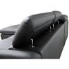 Ferdinand Chaise Sectional Sofa - Black, Adjustable Headrest - WI-A-076-SECTIONAL-BLACK-LFC