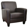 Stacie Dark Brown Leather Modern Club Chair - WI-A-150-206