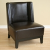 Terence Low-Slung Dark Brown Leather Chair - WI-A-179-001