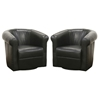Julian Black 360 Swivel Club Chair (Set of 2) - WI-A-282