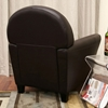 Ptolemy Brown Leather Classic Club Chair - WI-A-285-206