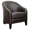 Priscilla Dark Brown Leather Modern Club Chair - WI-A-286-206