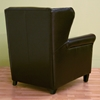 Tobias Dark Brown Leather Club Chair and Ottoman - WI-A-393
