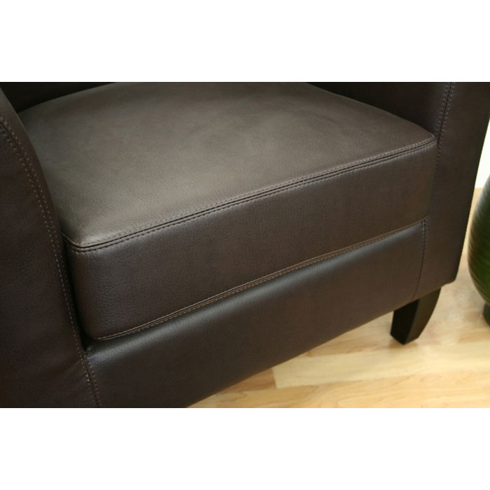 Frederick Dark Brown Leather Club Chair - WI-A-52-206