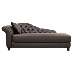 Josephine Brown Leather Victorian Chaise