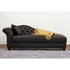 Josephine Brown Leather Victorian Chaise - WI-A-681-DU206