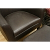 Tiptyn Espresso Brown Leather Club Chair and Ottoman - WI-A-72-206