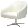 Balmorale Ivory Leather Swivel Chair - WI-A-729-8143