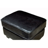 Anton Full Leather Ottoman in Black - WI-A-75-J023
