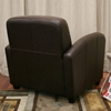 Marena Dark Brown Leather Club Chair - WI-A-77-206