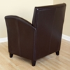 Lucio Dark Brown Leather Flared Arm Club Chair - WI-A-81-001