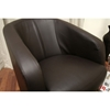 Louisa Brown Leather Curved Club Chair - WI-A-83-206