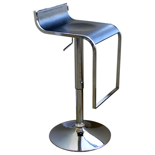 Signa Black Contemporary Bar Stool