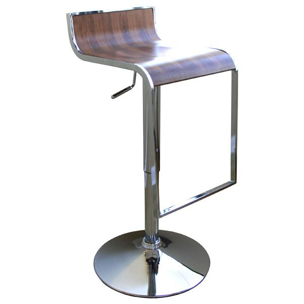 Signa Walnut Contemporary Bar Stool