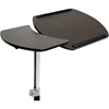 Olsen Wheeled Laptop Tray Table - Wenge, Black - WI-AA-10T-3-WENGE-BLACK