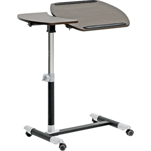 Olsen Wheeled Laptop Tray Table - Wenge, Black