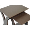 Xavier 2-Piece Wood Nesting Table Set - Wenge, Black Steel Bar - WI-AA-CJ4-WENGE-AT