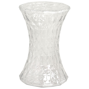 Dolly Clear Drum Stool