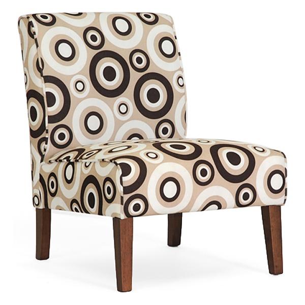 Davis Accent Chair   Brown Wood Legs, Circle Prints (Set Of 2) ...
