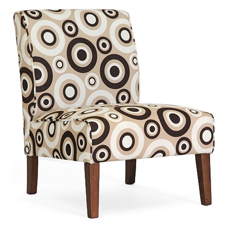 Davis accent chair brown wood legs circle prints set of 2 dcg stores Davis home furniture outlet