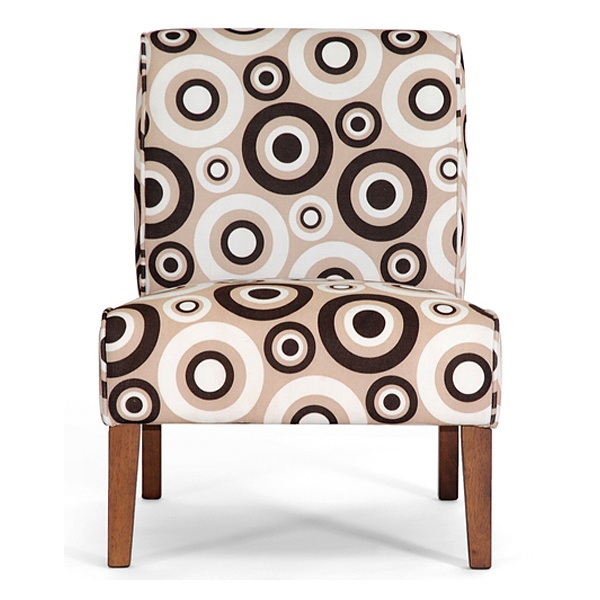 ... Davis Accent Chair   Brown Wood Legs, Circle Prints (Set Of 2) ...
