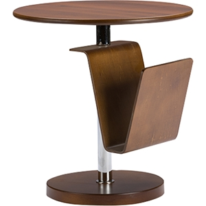 Piante Accent Table - Magazine Holder, Walnut Brown