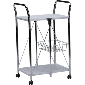 Watkins Foldable Serving Trolley Cart - Gray
