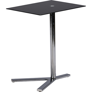 Avolia Snack Table - Black Glass Top