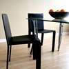 Regal Black Leather Dining Chair - WI-ALC-1037