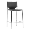 Montclare 26 Counter Stool Chrome Frame Black Leather Dcg Stores